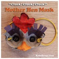 Preschool Kindergarten Hen Mask and Activities