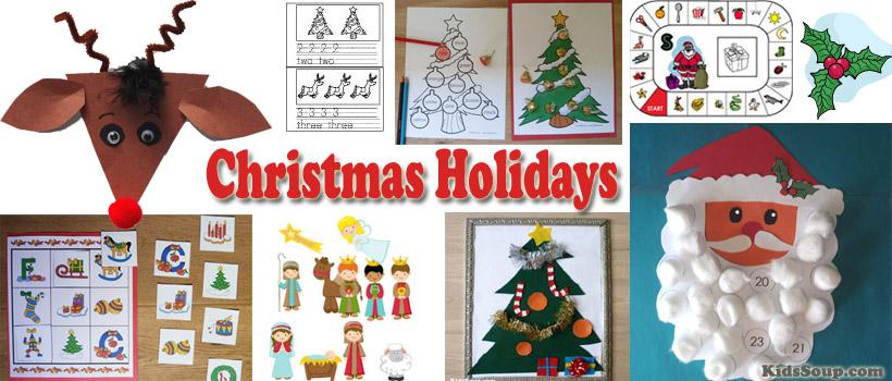 preschool and kindergarten Christmas tree activities and crafts