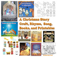 Preschool Kindergarten Christmas Nativity Books and Activities