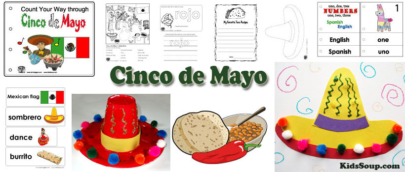 Cinco de Mayo Crafts, Activities, Games, and Printables | KidsSoup