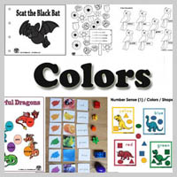 Preschool, kindergarten, Colors Activities and Printables