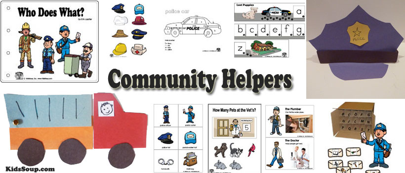 Community Helpers Activities and Games for Preschool