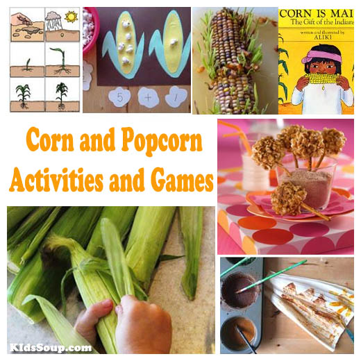Corn activities, lessons, and games for preschool and kindergarten
