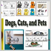 Preschool, Kindergarten, Cats, and Pets Activities and Crafts