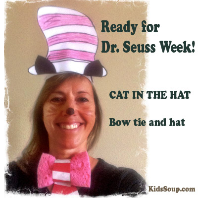 Dr. Seuss Cat In The Hat Bow Tie and Hat Craft   KidsSoup