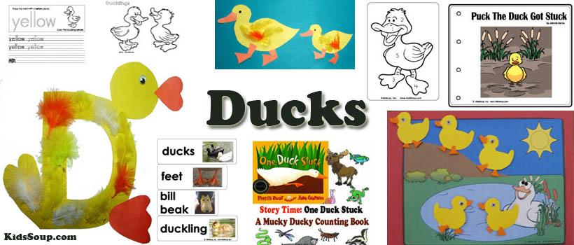 preschool and kindergarten ducks and pond activities and crafts