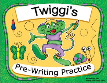 Preschool prewriting worksheets and ebook