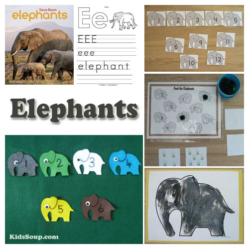 Preschool elephants activities, rhymes, and crafts
