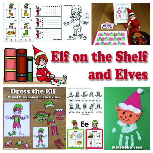 Elf on the Shelf preschool and kindergarten activities and games