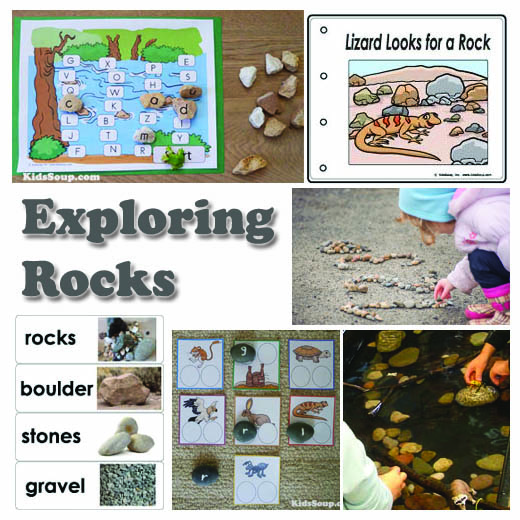 Rocks activities, lessons, and games for preschool and kindergarten