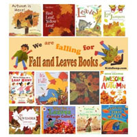 Fall leaves books, rhymes, and songs for preschool and kindergarten