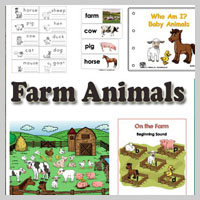 Preschool, Kindergarten Farm Animals Activities and Crafts