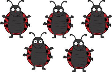 Five Little Ladybugs preschool felt story and printables