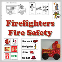Preschool Kindergarten Firefighters Activities and Crafts