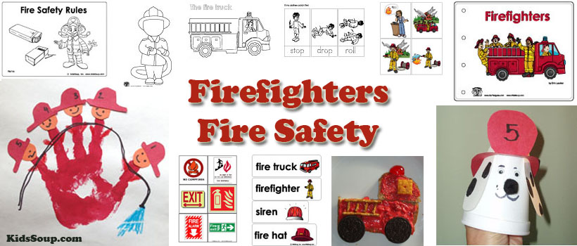 Firefighter and Fire Safety Activities Lessons and Crafts – Kindergarten Fire Safety Worksheets