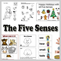 Preschool Kindergarten The Five Senses Activities and Crafts