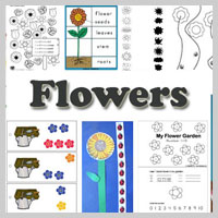 Preschool Kindergarten flowers activities and crafts