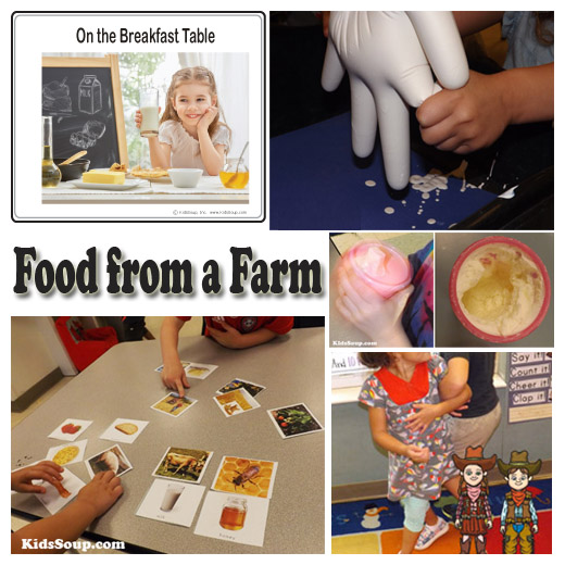 Harvest Fruit and Vegetables Preschool activities and games