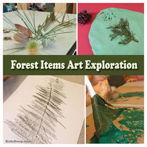 Forest plants and trees preschool activities and crafts