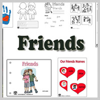 Preschool Kindergarten My Friends Activities and Lessons