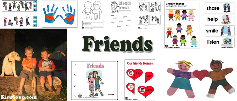 Friendship Crafts, Activities, Games, and Printables | KidsSoup
