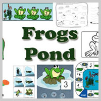 Preschool and Kindergarten Pond and Frogs Activities and Crafts