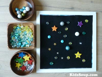 Space and Planets activities and games for preschool and kindergarten