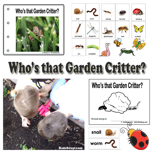 Preschool garden critters lessons and activities