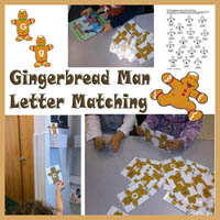 Preschool, Kindergarten The Gingerbread Man Hunt Actvities