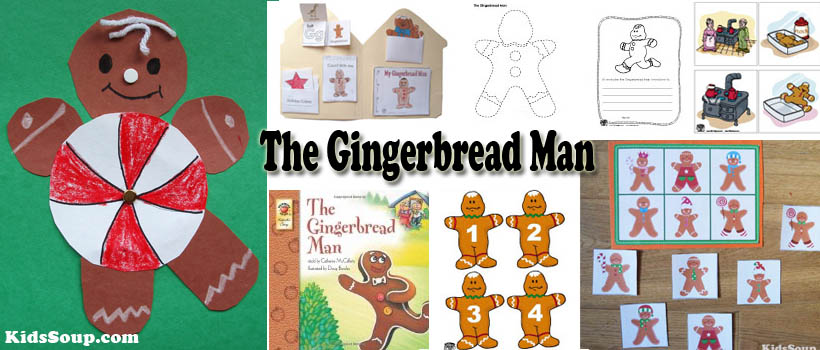 The gingerbread man crafts activities games and lessons kidssoup