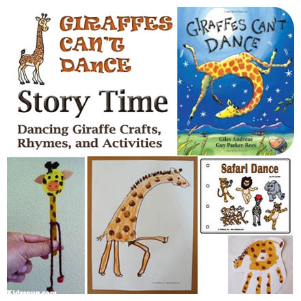 Safari Giraffe Preschool story time and activities