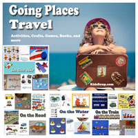 Preschool Kindergarten Going Places Theme and Activities