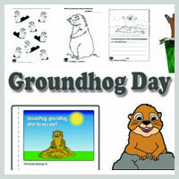 Preschool and kindergarten Groundhog Day activities, crafts and lessons