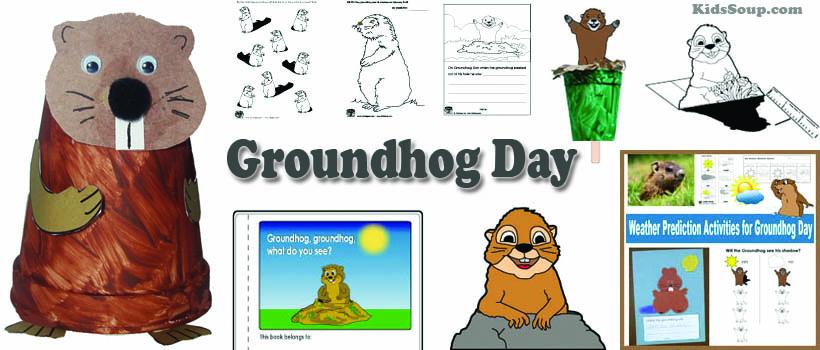 preschool and kindergarten Groundhog Day activities and crafts
