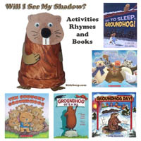 Groundhog Day books, songs, and rhymes