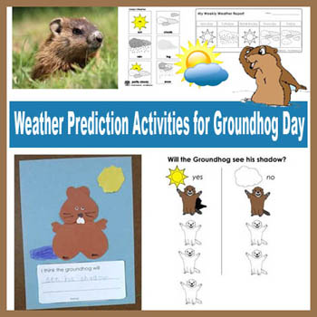 Preschool Kindergarten Groundhog Day Weather Activities