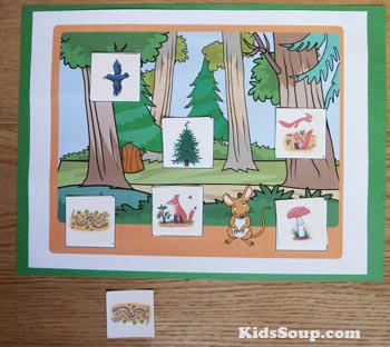 The Gruffalo preschool and kindergarten literacy activity