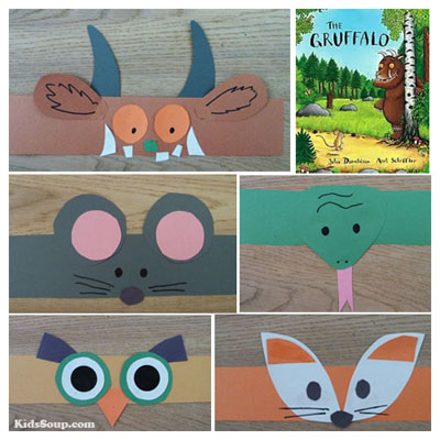 The Gruffalo Story headband crafts for preschool