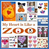 Preschool My Heart is like a Zoo Activities and Crafts
