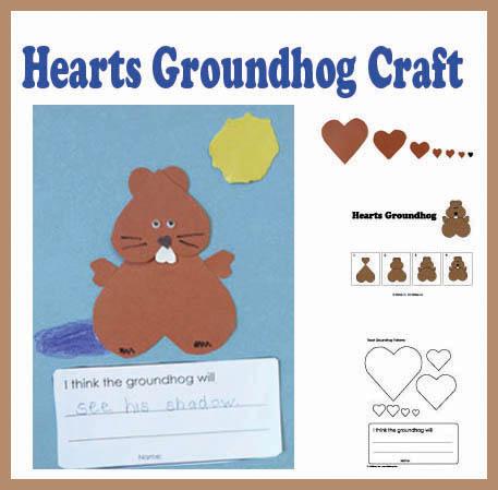 groundhog day preschool activities hearts groundhog craft kidssoup 163