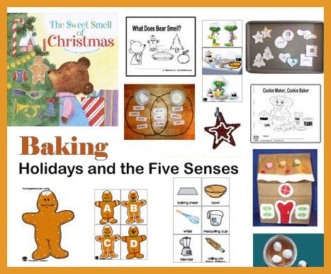 preschool and kindergarten Christmas and baking activities and crafts