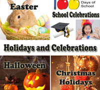 Holidays and Celebrations themes for preschool kindergarten