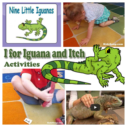 I For Iguana And Itch Activities Kidssoup