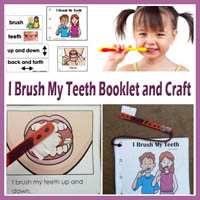 Preschool, Kindergarten I Brush My Teeth Activities and Crafts