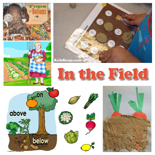 Farm and harvest preschool activities and games