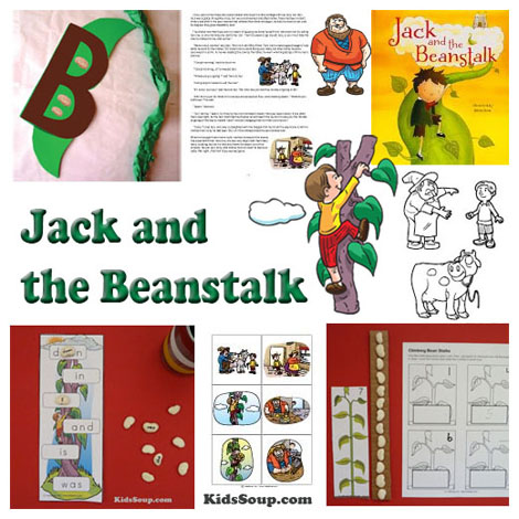 Jack and the Beanstalk preschool crafts, activities, and games