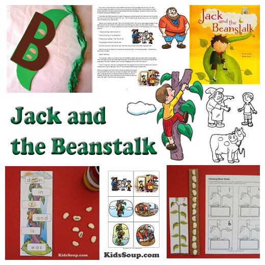 Jack and the Beanstalk Activities and Crafts for preschool and kindergarten