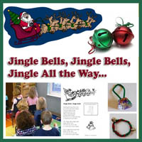 Preschool, Kindergarten, Jingle Bells Song and Activities