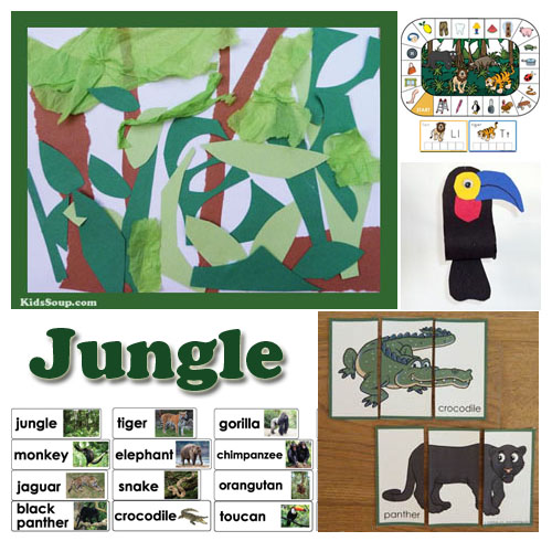 Deep In The Jungle Preschool Lesson Plans And Activities Kidssoup
