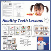 Preschool, Kindergarten Healthy Teeth Lessons and Activities